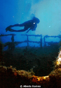 """Diving on the wreck of """" Carlmelo Lo Porto""""  about -20 m,... by Alberto Romeo"""