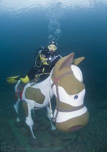 Chris on horse back. D3, 16mm. by Derek Haslam