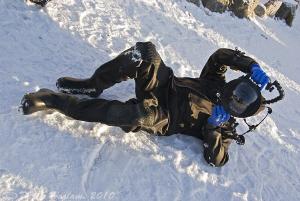 Mr T in the snow. -7c air temp, 4c water temp... S5PRO, 1... by Derek Haslam