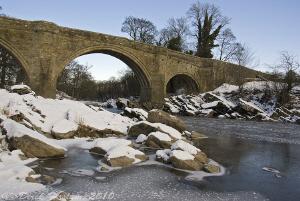River Lune. Frozen. No diving today. S5PRO, 18-200mm. by Derek Haslam