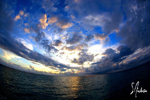 This image was taken from the bow of the Shearwater after... by Steven Anderson