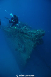 Bow of Wreck, Truk Lagoon by Brian Gonzales