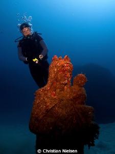 Virgin del Carmen The statue was put down in the ocean f... by Christian Nielsen