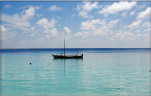 view from the beach to the indian ocean! by Andy Kutsch