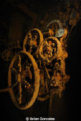 Engine Room, Truk Lagoon by Brian Gonzales