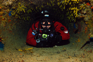 inside the chimney of borans wreck. by Andy Kutsch