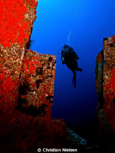 Atlantis One of the splendid volcanic rockformations and... by Christian Nielsen