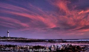 PringleBay lighthouse- panoramic HDR  by Tony Makin