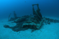 Wreck of a WWII Bristol Beaufighter at 40 metres off the ... by Paul Colley