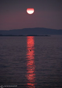 Sunset over Inisbofin.