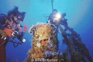 "The funnel of "" Capua"" wreck. 
