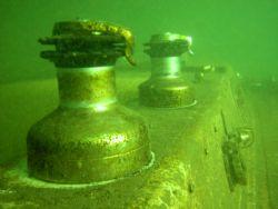 Sailboat wreck, Lake Ontario, South coast. Nikon CP5000, ... by Ken Dean