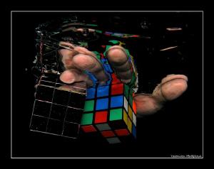 series of Rubik's hand  /no p.c work, taken in swimming... by Veronika Matějková