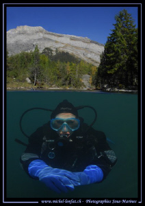 High Altitude Lake Diving with my wife... Que du bonheur.... by Michel Lonfat