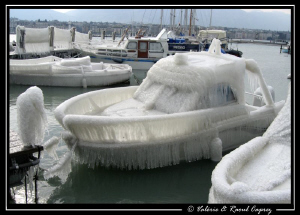 Ice boat ... it was quite cold last week in Switzerland.