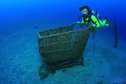 Underwater shopping...they just can't let it be ;-)  by Arthur Telle Thiemann