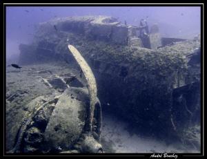 B-17 devant la citadelle de Calvi en Corse by André Bruchez