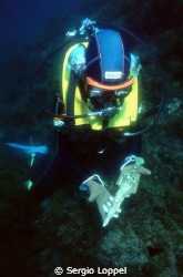 """""""Gold dragger"""" Archaeological research. Nikonos 15mm.UW by Sergio Loppel"""