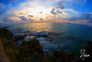 This image was taken last week in Cozumel. Sunsets are be... by Steven Anderson
