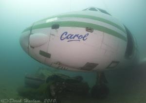 Plane wreck. D3, 16mm. by Derek Haslam