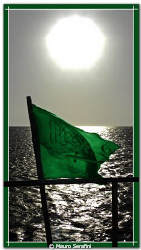 Green flag by Mauro Serafini