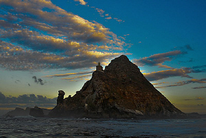 View of Cape Point (South Africa) at dawn. by Charles Wright