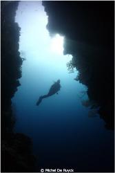 Diver outside the door... by Michel De Ruyck