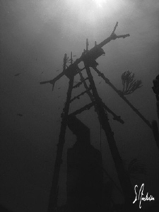 My second favorite wreck off Nassau - The Sea Viking. Thi... by Steven Anderson