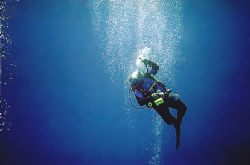 just a cool ascent diver was an instruction in tech diving by Michael Odonnell