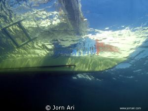 Our dayboat seen from below.