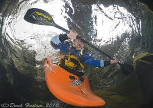 Canoeist. River Duddon. D3, 16mm. by Derek Haslam