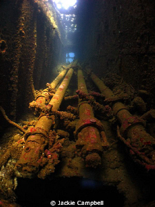 Periscopes on the wreck of the Heian Maru. Canon ixus 98... by Jackie Campbell
