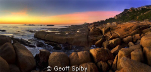 A stitched panorama of 3 HDR images taken at Llandudno at... by Geoff Spiby