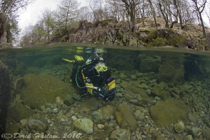 Chris in the river Duddon. D3, 16mm. by Derek Haslam