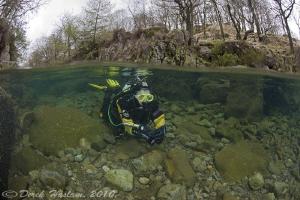 Chris in the river Duddon. D3, 16mm. by Derek Haslam
