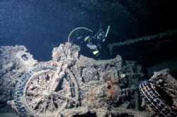 """In the holds of """"Thistlegorm"""". Red Sea. by Lyubomir Klissurov"""
