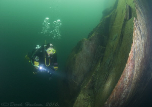Green water. Vivian quarry. D3, 16mm. by Derek Haslam