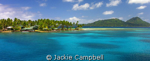 Blue Lagoon Resort in Truk Lagoon as seen from the bridge... by Jackie Campbell
