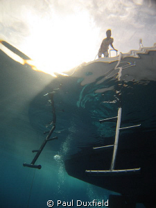 I guess the crew here distorted by the surface waves, was... by Paul Duxfield