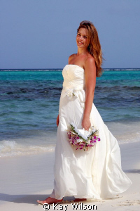 Bride at the beach... by Kay Wilson