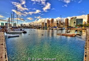 Late Afternoon at the Ala Wai Harbor in Waikiki by Rylan Stewart
