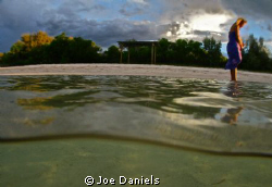 I was shooting over under shots with stingrays, thought I... by Joe Daniels