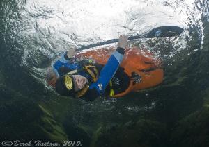 Roll over! River Duddon. D3, 16mm. by Derek Haslam