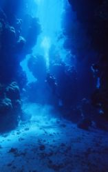 cave shaab claudio reef saint jhons reef red sea egypt by Marco Zanini