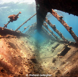 Prom deck of the Umbria in the Red Sea, Sudan by Michael Gallagher
