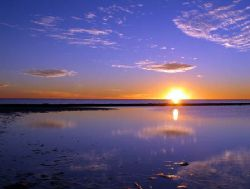 Sunset on low tide, Coral Bay by Penny Murphy