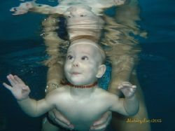 Young future diver during babyswimming.  by Maraczi Laszlo