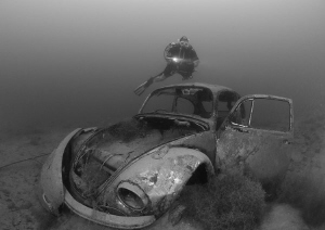 Diver with VW. D3, 16mm. by Derek Haslam