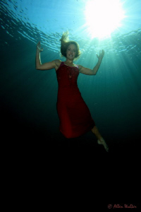 Lady in Red - My first attempt at an underwater model sho... by Allen Walker