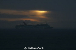 Caribbean Cruise Line making it's way out of Cozumel by Nathan Cook